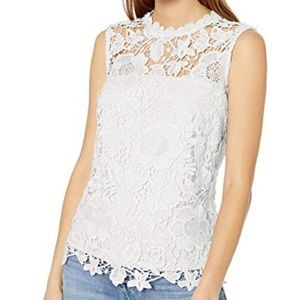 Nenette Lepore white lace tank top